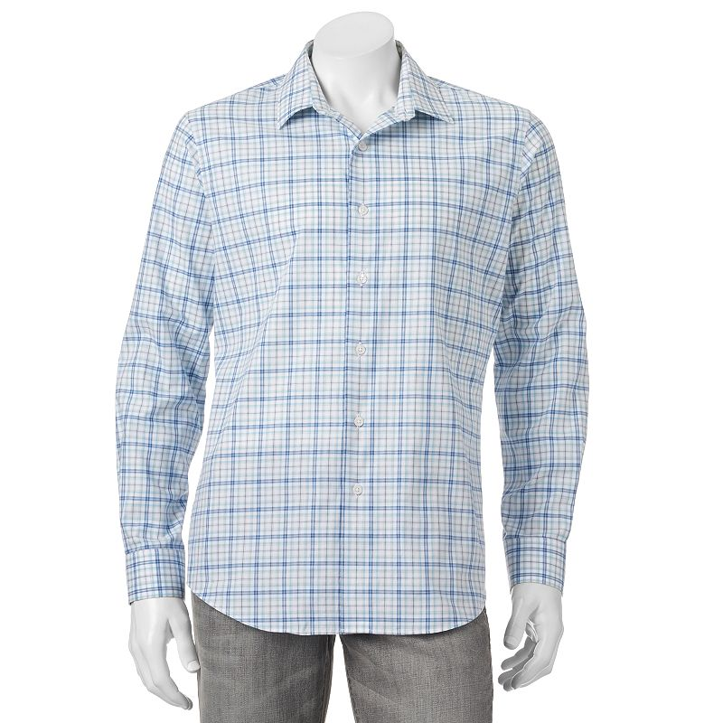 Men's Apt. 9® Modern-Fit Geometric Button-Down Shirt