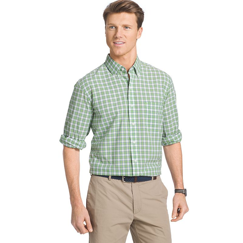 Men's IZOD Classic-Fit Plaid Button-Down Shirt