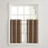No918 Montego 2-pack Solid Tier Curtains