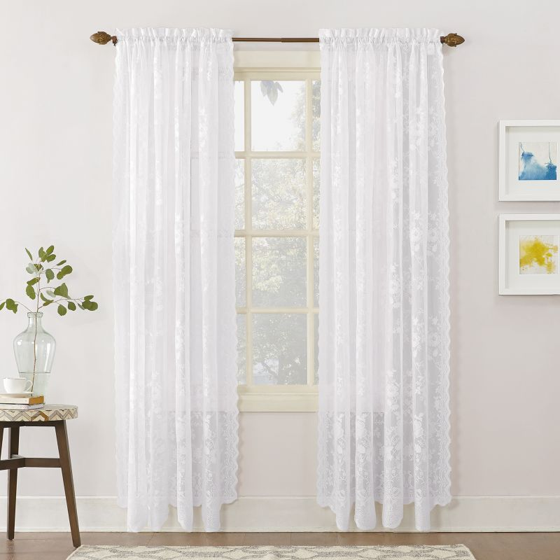 Grey And Pink Shower Curtain Lace Curtains On eBay
