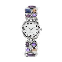 Women's Simulated Gemstone Stretch Watch