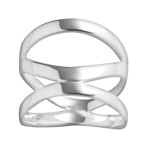 Sterling Silver 3-Band Abstract Ring