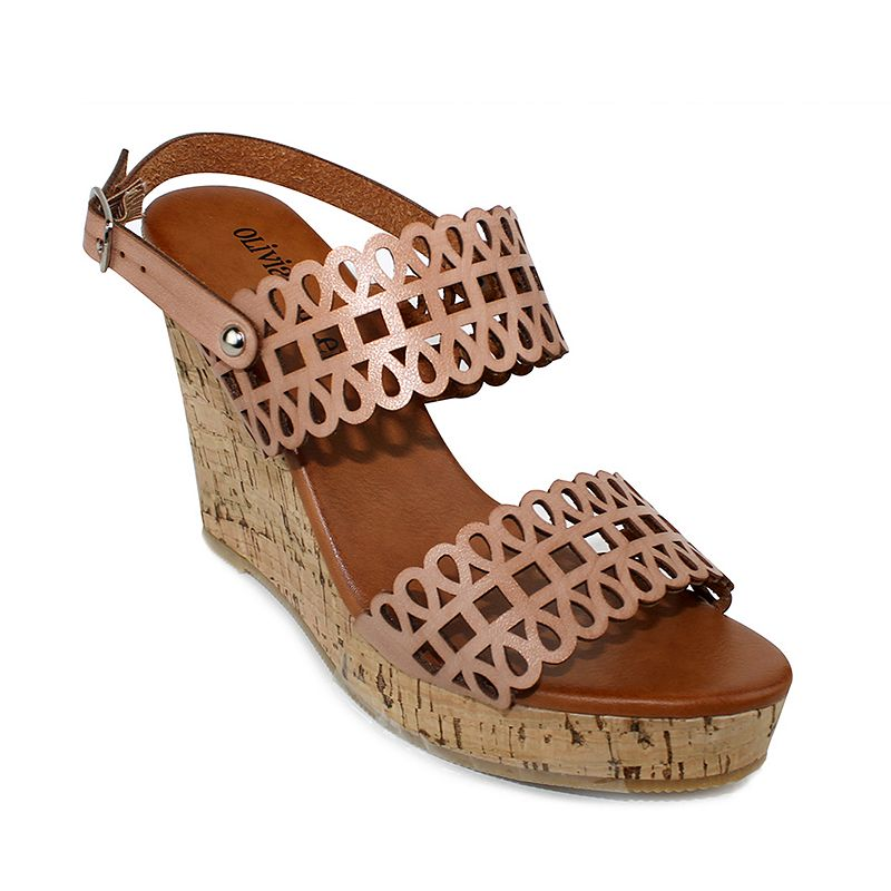 Olivia Miller Milan Women's Wedge Sandals