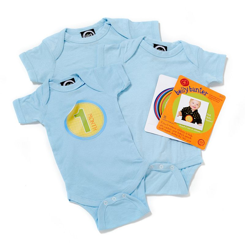 Belly Banter Watch Me Grow Baby Boy Gift Set by Slick Sugar, Blue