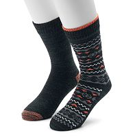 Men's Climatesmart Plushfill Fairisle Outdoor Casual Crew Socks