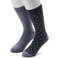Men's Climatesmart Plushfill Fleur-de-Lis & Solid Outdoor Casual Crew Socks