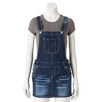 Juniors' Wallflower Denim Overall Skirt