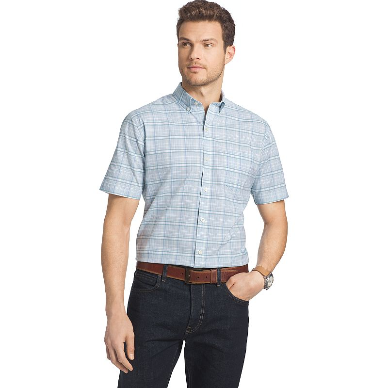 Men's Van Heusen Lux Touch Easy-Care Plaid Button-Down Shirt