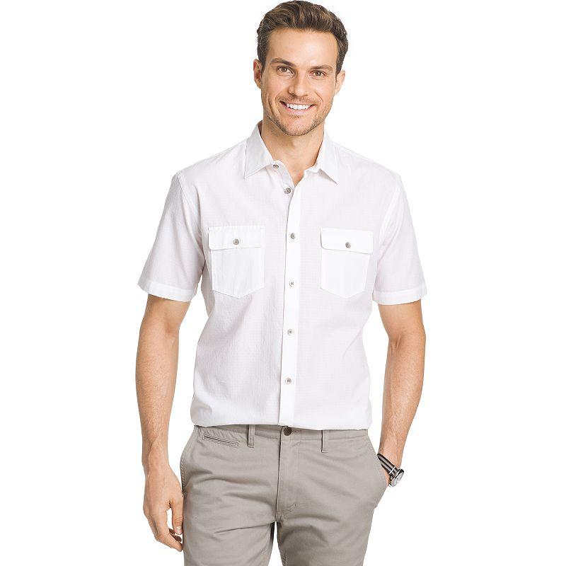 Men's Van Heusen Classic-Fit Patterned Button-Down Shirt