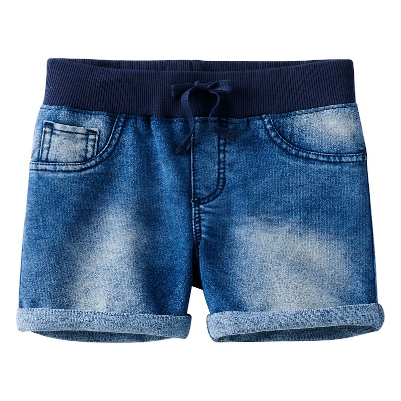Girls 7-16 & Plus Size SO® Knit & Denim Shortie Shorts