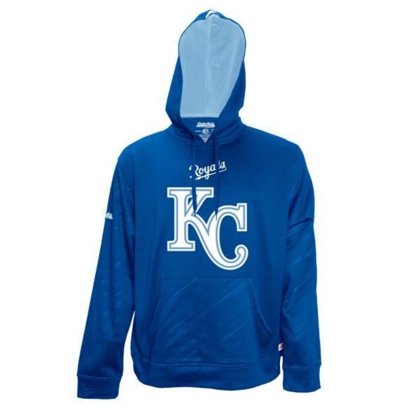 Men's Stitches Kansas City Royals Embossed Performance Fleece Hoodie