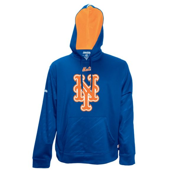 Men's Stitches New York Mets Embossed Performance Fleece Hoodie