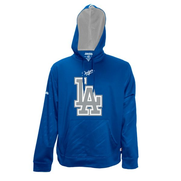 Men's Stitches Los Angeles Dodgers Embossed Performance Fleece Hoodie