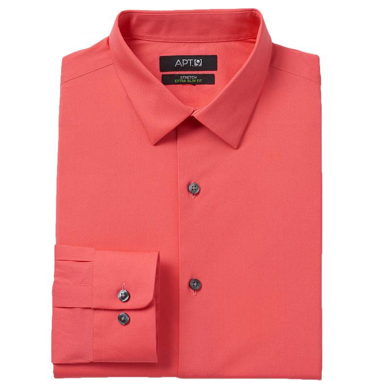 Men 39 S Apt 9 Modern Fit Stretch Spread Collar Dress Shirt