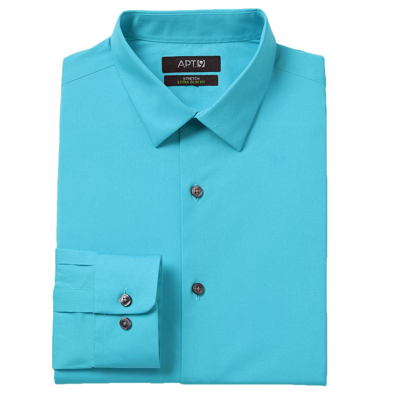Men's Apt. 9® Modern-Fit Stretch Spread-Collar Dress Shirt