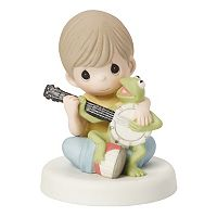 Disney's The Muppets Boy and Kermit The Frog Figurine by Precious Moments