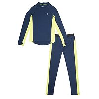 Boys 4-18 Climatesmart 2-Piece Colorblock NEW Active Base Layer Set