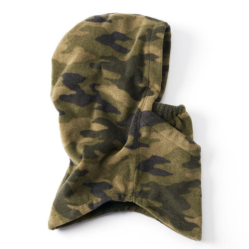 Boys Tek Gear 4-in-1 WarmTek Microfleece Hood, Boy's, Green