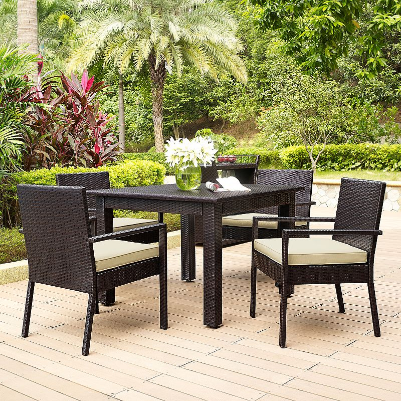 Palm Harbor Outdoor Wicker Dining 5-piece Set