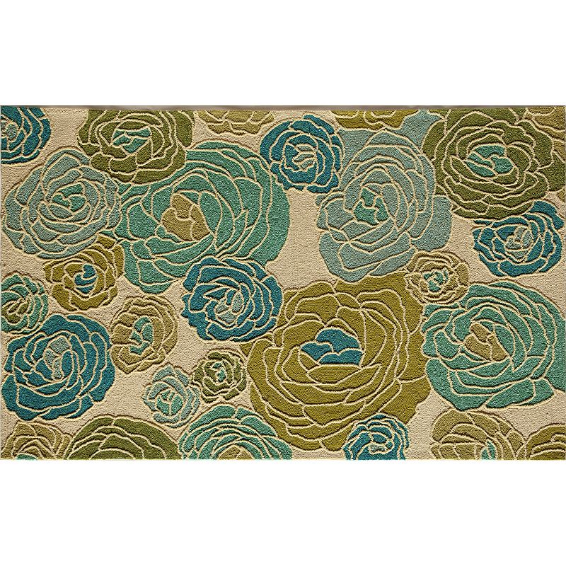 Rugs America Lenai Blue Dahlia Indoor Outdoor Rug