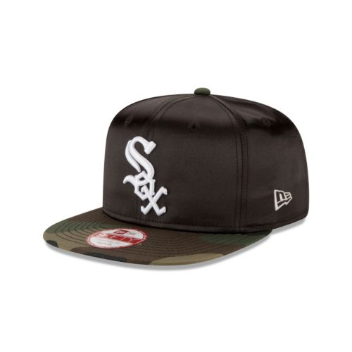 Adult New Era Chicago White Sox 9FIFTY Satin Crowner Snapback Cap