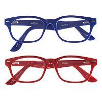 eyeSQUARE 2-Pr. Square Reading Glasses - Blue, Red