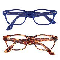 eyeSQUARE 2-Pr. Square Reading Glasses - Blue, Tortoise