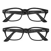 eyeSQUARE 2-Pr. Square Reading Glasses - Black