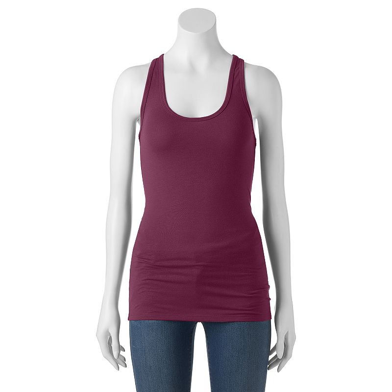 Juniors' SO® Racerback Tank Top