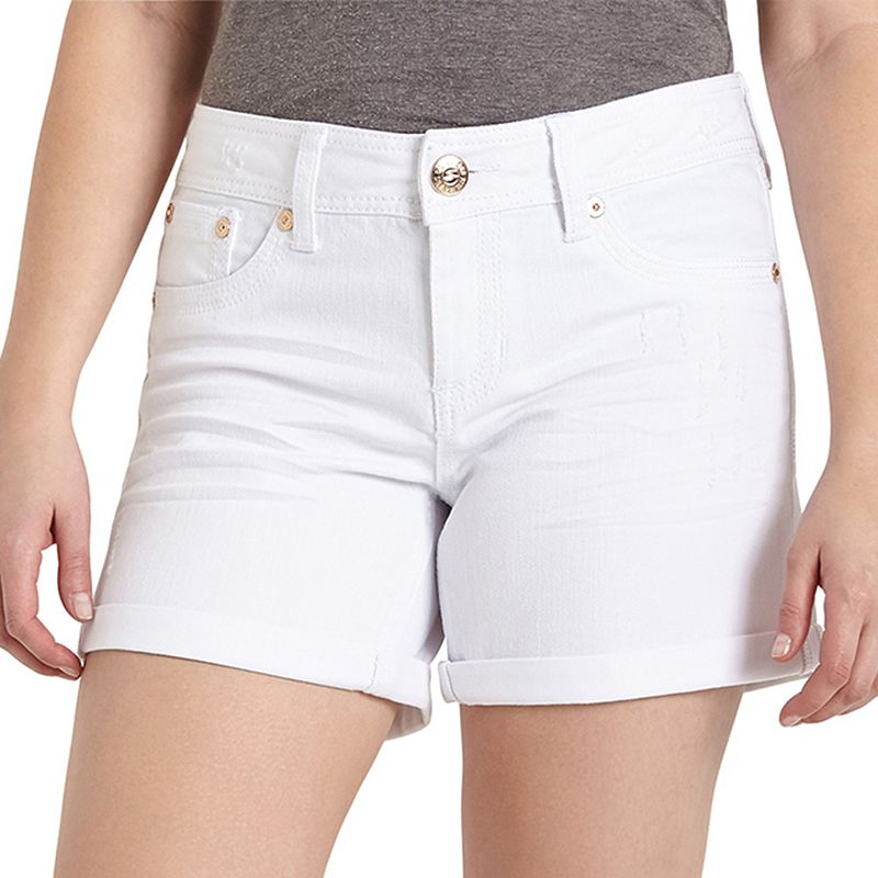 Women's Seven7 White Jean Shorts