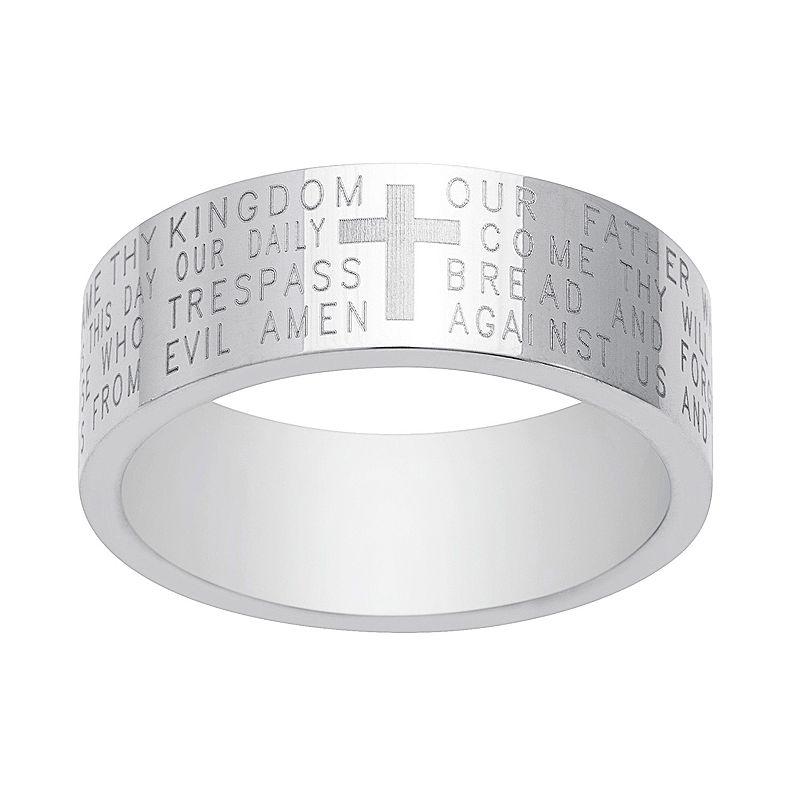 1913 Men's Stainless Steel Lord's Prayer Ring