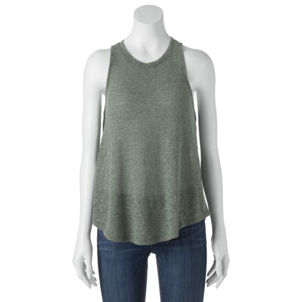 Juniors' Mudd® Textured Racerback Tank Top