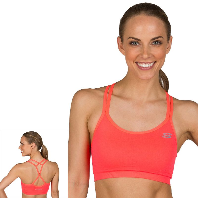 Women's Skechers Textured Seamless Low-Impact Sports Bra 0287