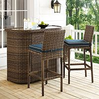 Bradenton Outdoor Wicker Bar 3-piece Set