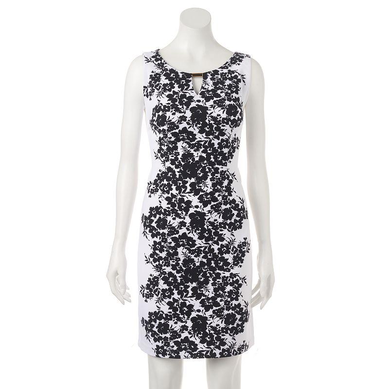 Women's Ronni Nicole Keyhole Floral Sheath Dress