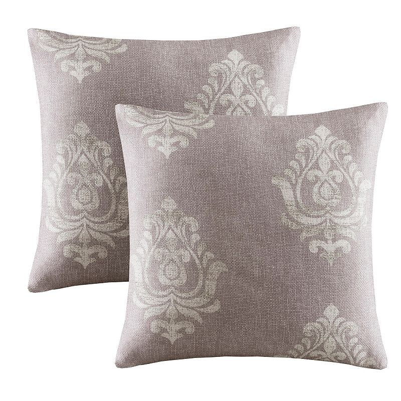 Madison Park Kensington Damask Square Throw Pillow 2-piece Set