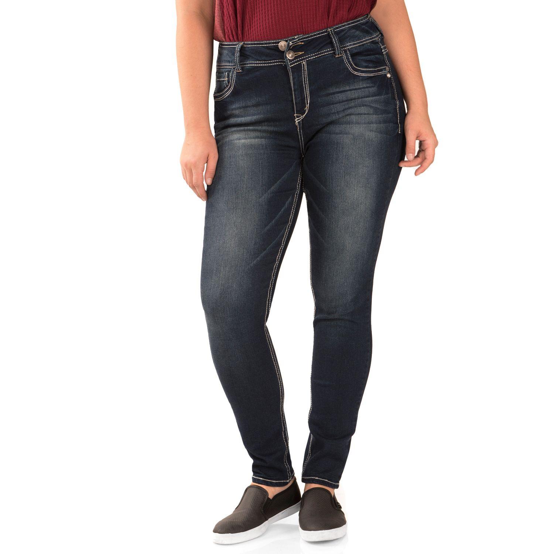 Juniors Plus Size Wallflower Luscious Curvy Skinny Jeans