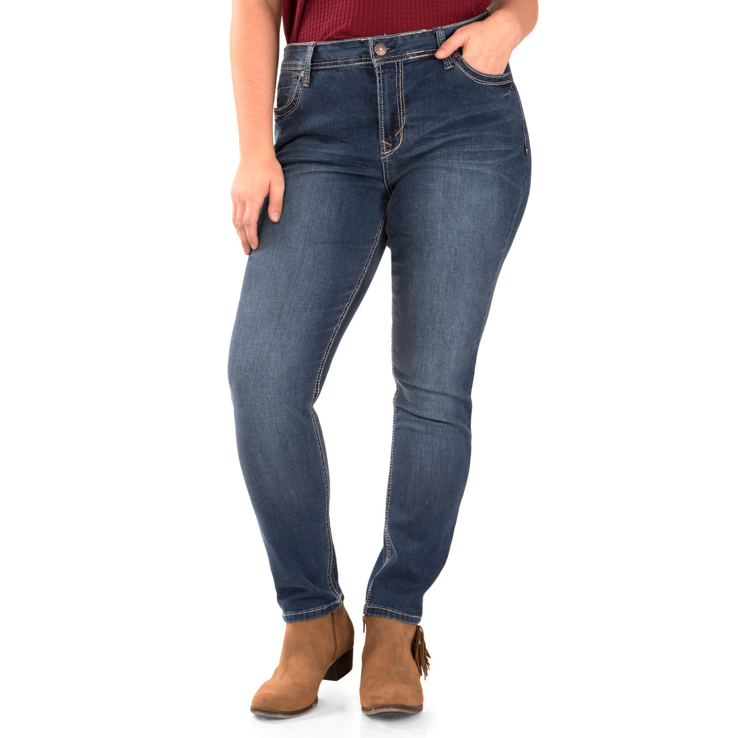 Juniors Plus Size Wallflower Legendary Skinny Jeans