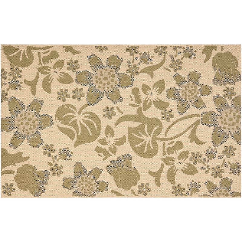 Safavieh Courtyard Lily Pad Floral Indoor Outdoor Rug