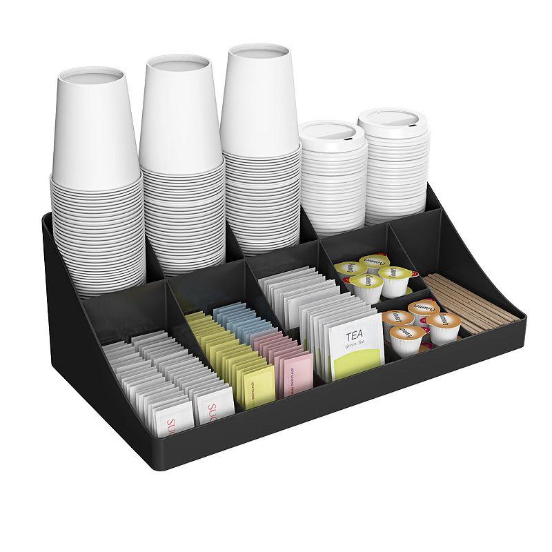 Mind Reader Pioneer 11 Compartment Breakroom Coffee Condiment Organizer