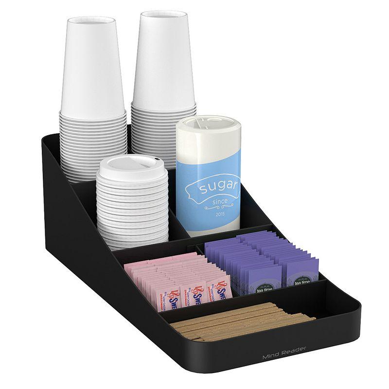 Mind Reader Trove 7 Compartment Coffee Condiment Organizer