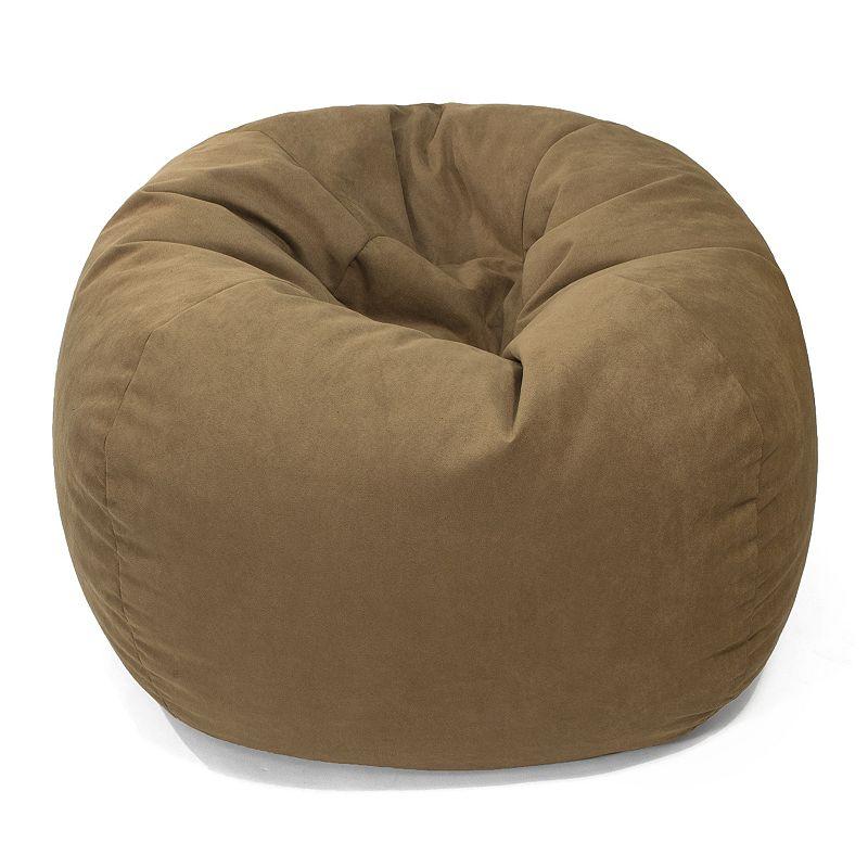 Medium Microfiber Faux-Suede Bean Bag Chair