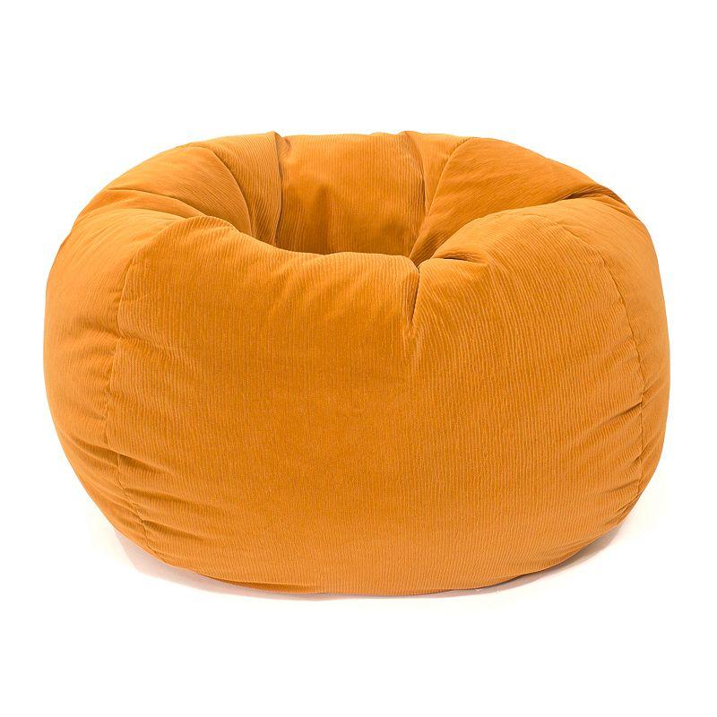 Small Microfiber Faux-Suede Corduroy Bean Bag Chair