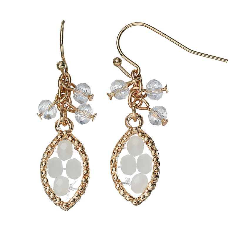 Apt. 9® Beaded Marquise Drop Earrings