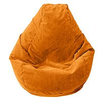 Large Teardrop Microfiber Faux-Suede Corduroy Bean Bag Chair