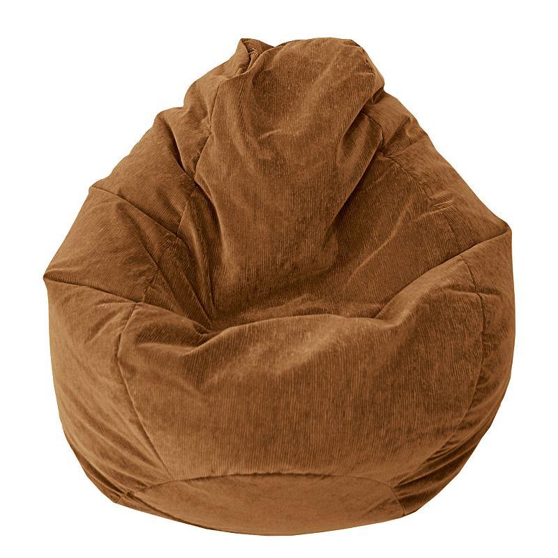 Large Teardrop Microfiber Faux-Suede Corduroy Bean Bag Chair