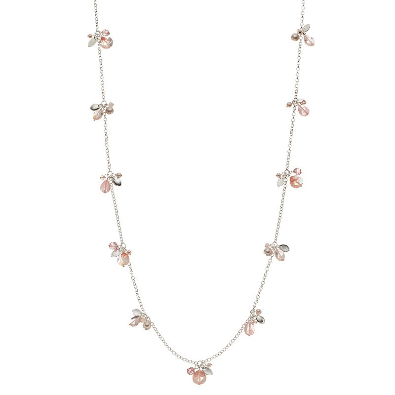 Chaps Long Beaded Cluster Station Necklace