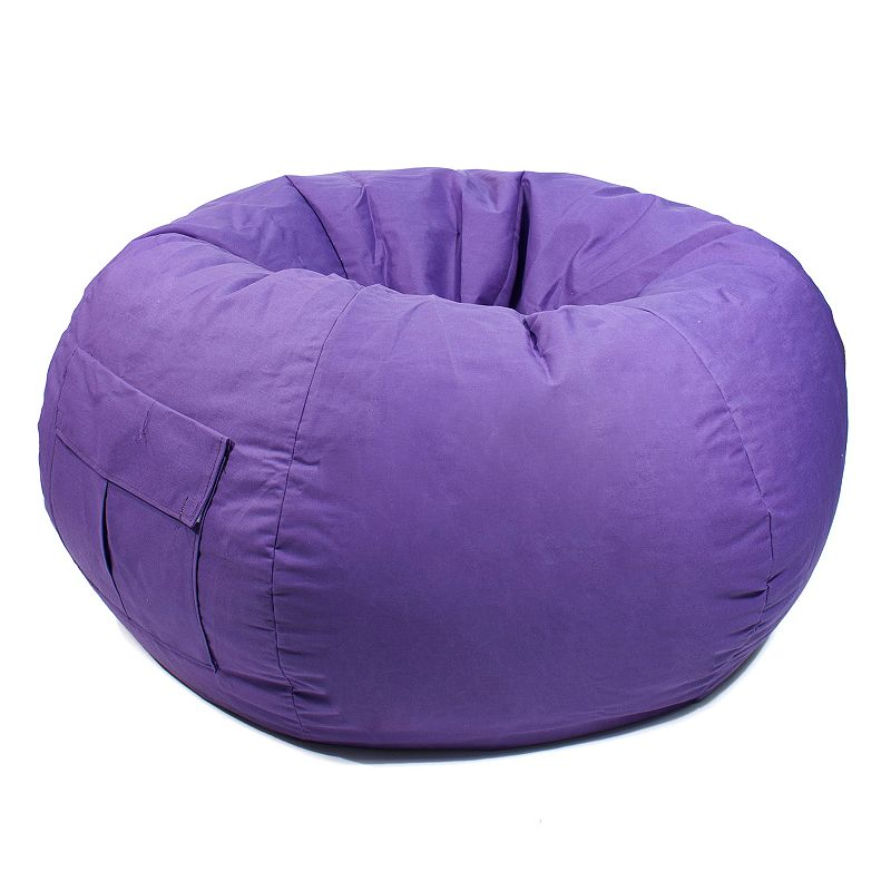 Extra Large Cargo Pocket Microfiber Bean Bag Chair