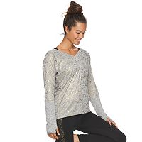Women's Gaiam Glimmer Yoga Top