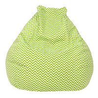 Large Teardrop Chevron Bean Bag Chair